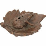 Incense Burner - Ceramic Frog Terra Cotta