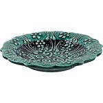 Turkish Ceramic Candle Plate - Teal