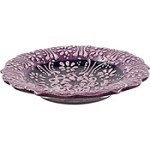 Turkish Ceramic Candle Plate - Purple