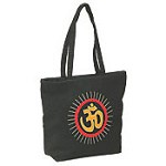 Cotton Embroidered OM Bag With a Handle - 13