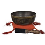 Tibetan Singing Bowl Set 8 Auspicious Symbols
