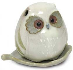 Ceramic Baby Owl Incense Burner