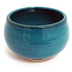 Ocean Blue Japanese Handthrown Ceramic Bowl Burner
