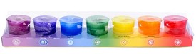 Crystal Journey Chakra Votive Candles Box of 7