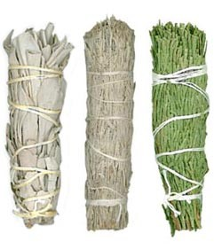 Mini Smudge Sampler - White Sage, Desert Sage & Cedar