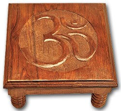 Om Wood Altar Table