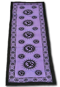 Purple Cotton Om Yoga Mat