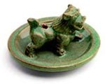 Glazed Snow Lion Incense Burner