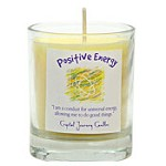 Positive Energy - Crystal Journey Filled Glass Votive Candle