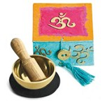 OM Mini Meditation Bowl Box
