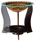 Metal and Glass Aroma Lamp - Design #5 - 5