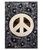 Brown Peace Sign Splatter Tapestry - 60 x 90