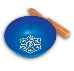 OM Lotus Blue Singing Bowl